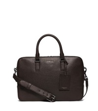 Michael Kors Bryant Medium Pebbled Leather Briefcase Brown