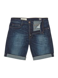 Criminal Indigo Denim Shorts Denim Indigo