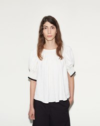 Christophe Lemaire Pleated Blouse White