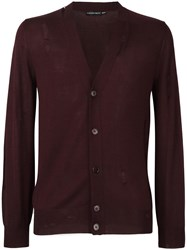 Alexander Mcqueen Distressed Cardigan Pink Purple