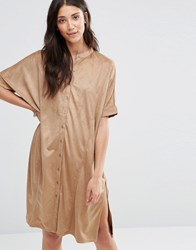 Vila Miller Dress Dusty Camel Brown