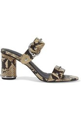 Rebecca Minkoff Woman Amalthea Too Studded Snake Effect Leather Mules Animal Print