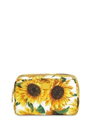 Dolce And Gabbana Girasoli Printed Nylon Make Up Bag