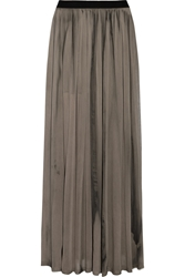 Enza Costa Chiffon Maxi Skirt Gray