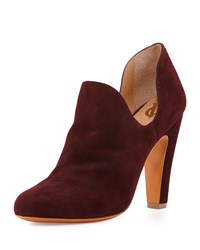 Gabel Suede Dip Side Bootie Bordeaux Vc Signature