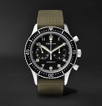 Zenith Pilot Cronometro Tipo Cp 2 Automatic 43Mm Stainless Steel And Leather Watch Ref. No. 03.2240.4069 21.C803 Black