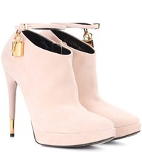 Tom Ford Suede Ankle Boots Pink