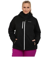 Columbia Plus Size Mile Summit Jacket Black White Women's Coat