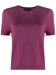 Talie Nk Knit Top Pink Purple