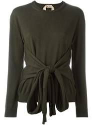 Nao21 Front Knot Jumper Green