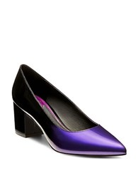 Brian Atwood Kacie Patent Leather Pumps Purple