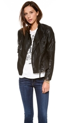 Blank Vegan Moto Jacket Black