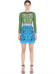 Peter Pilotto Swarovski Embellished Wool Crepe Dress