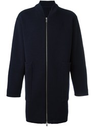 Etudes Studio Long Zipped Cardigan Blue
