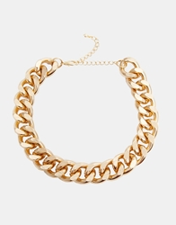 Designsix Gold Chunky Chain Necklace