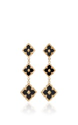 Buccellati Opera Onyx Pendant Earrings Black