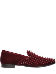 Giacomorelli Studded Velvet Loafers