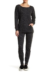 Nanette Lepore Zip French Terry Pant Gray