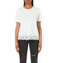 The Kooples Embroidered Jersey T Shirt Bellini