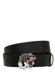 Gucci 40Mm Enameled Tiger Leather Belt