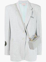 Natasha Zinko Chillin Reflective Bag Blazer Grey