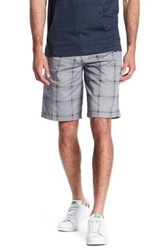 Burnside Tartan Plaid Print Short Gray