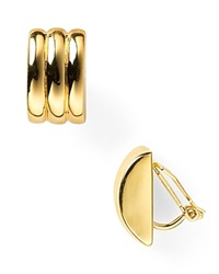 Lauren Ralph Lauren Lauren By Ralph Laurenridged Huggie Hoop Clip Earrings Gold