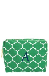 Cathy's Concepts Monogram Cosmetics Case Green A