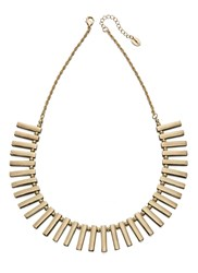 Fiorelli Costume Gold Multi Bar Collar Necklace