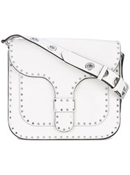 Rebecca Minkoff Midnighter Messenger Bag Women Leather One Size White