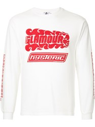 Hysteric Glamour Embroidered Sweatshirt White