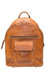 Will Leather Goods Men's 'Silas' Backpack Brown Tan
