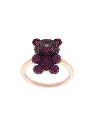 Khai Khai Ruby And Diamond Gummy Bear Ring Metallic