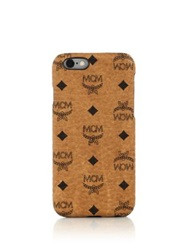 Mcm Claus Coated Canvas Iphone 6 Case Cognac Black