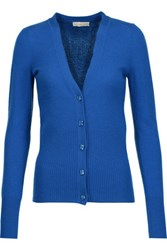 Tory Burch Lucille Cashmere Cardigan Bright Blue