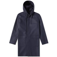 Harmony Mathieu Hooded Classic Coat Blue
