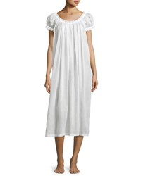 Celestine Jule Cap Sleeve Long Nightgown White