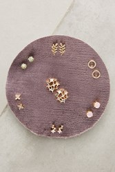 Anthropologie Cocktail Party Earring Set Mauve