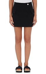 Helmut Lang Women's Raw Edge Miniskirt Black