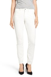 Nydj 'Alina' Skinny Stretch Corduroy Pants White