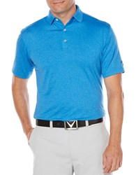 Callaway Performance Heathered Polo Magnetic Blue