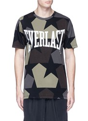 Ports 1961 X Everlast 'Star Camo' Print T Shirt Green Multi Colour