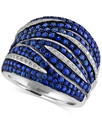 Effy Collection Effy Sapphire 2 1 3 Ct. T.W. And Diamond 1 5 Ct. T.W. Ring In 14K White Gold Blue