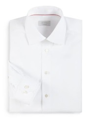 Eton Of Sweden Contemporary Fit Solid Twill Dress Shirt White
