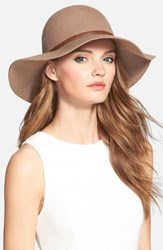 Women's Nordstrom Floppy Wool Hat Brown Tan