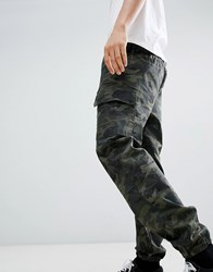 Sixth June Utility Joggers In Camo Green