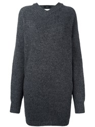 Ellery Oversized Open Back Jumper Grey