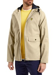 Lyle And Scott Cotton Zip Through Jacket Stone