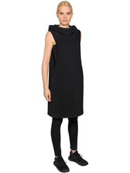 Y 3 Cotton Jersey Hooded Track Dress