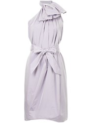 Martin Grant Halterneck Ruffled Dress Purple